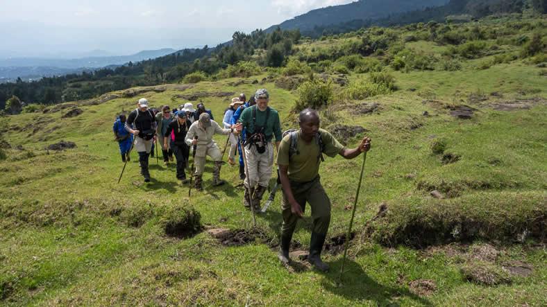 Climbing Mount Bisoke in Rwanda